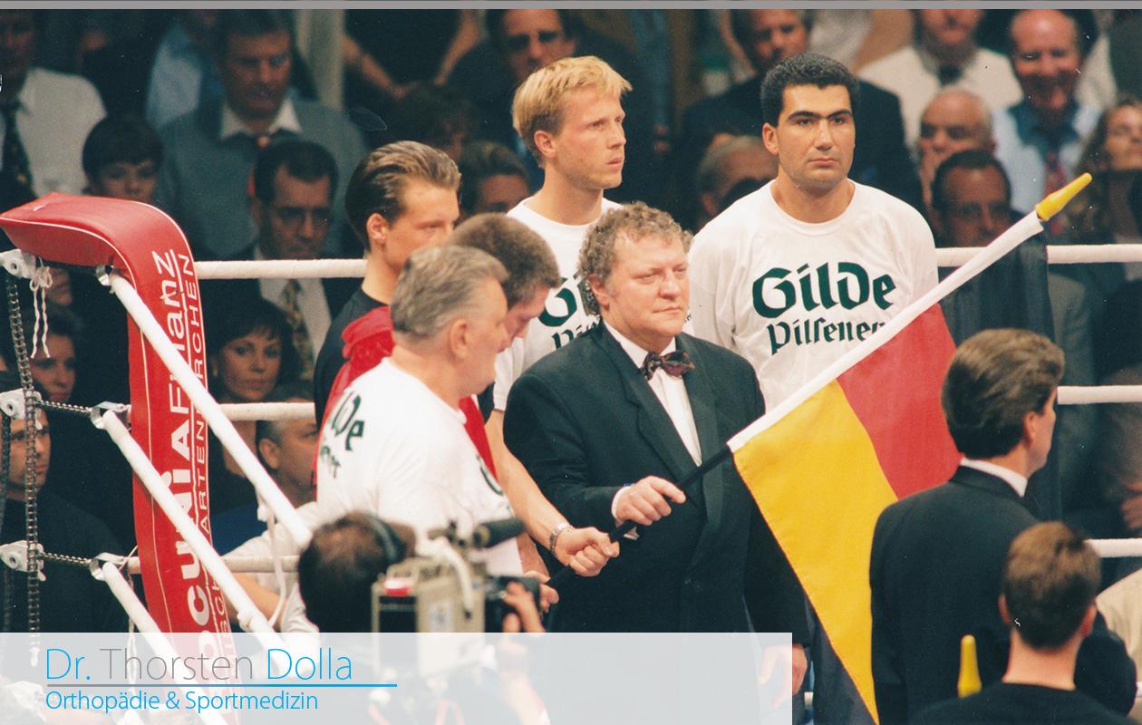 Thorsten Dolla, Arzt von Graciano Roccigiani – WM Kampf gegen Henry Maske